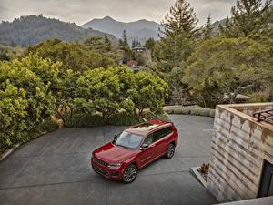 Fotos Jeep SUV Rot Metallisch 2021 Grand Cherokee L Overland auto