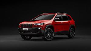 Hintergrundbilder Jeep Rot Sport Utility Vehicle Metallisch Cherokee, Trailhawk, 2019 automobil