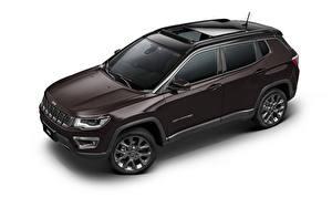 Bilder Jeep Softroader Metallisch Weißer hintergrund Compass S Latam (MP), 2019 auto