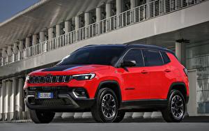 Bilder Jeep Rot Metallisch Compass Trailhawk 4xe, EU-spec, (MP), 2021 Autos