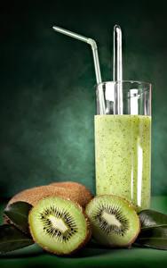 Hintergrundbilder Saft Kiwi Trinkglas