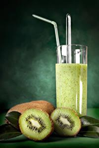 Hintergrundbilder Saft Kiwi Trinkglas Lebensmittel