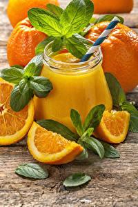 Bilder Saft Apfelsine Weckglas das Essen