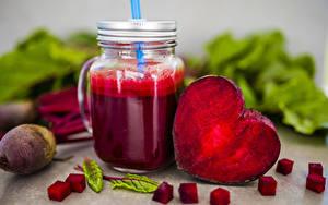 Bilder Saft Gemüse Rote Beete Becher Herz