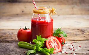 Hintergrundbilder Saft Gemüse Tomate Bretter Einweckglas