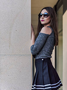 Fotos Pose Posiert Brille Blick Kamila Kowalska Starren