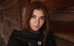 Hintergrundbilder Viacheslav Krivonos Model Braunhaarige Blick Haar Gesicht Kate Mädchens