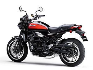 Bilder Kawasaki Weißer hintergrund Z900RS, 2018 Motorräder