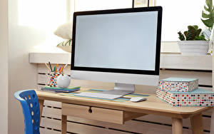 Photo Keyboard Mouse computing Table Monitor Computers