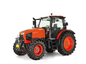 Bilder Traktor Rot Weißer hintergrund Kubota M115GX-IV, 2018 --
