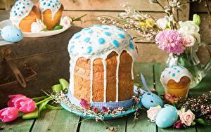 Hintergrundbilder Kulitsch Zuckerguss Ostern das Essen