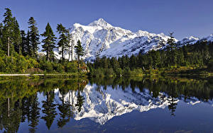 Pictures Lake Mountains Scenery