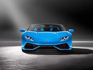 Fotos Lamborghini Vorne Hellblau 2015 Huracan