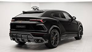 Hintergrundbilder Lamborghini Hinten Schwarz 2018 TopCar Urus