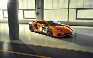 Bilder Lamborghini Tuning Orange Aventador S Skyler Grey auto