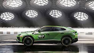 Bilder Lamborghini Grün Seitlich Urus 2019 ST-X
