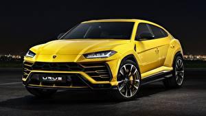 Wallpaper Lamborghini CUV Yellow Metallic Urus Concept, SSUV, 2017 automobile