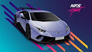 Wallpaper Lamborghini Vector Graphics Need for Speed Heat, Huracan 2019 by Suman094 vdeo game Cars
