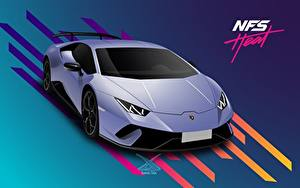 Desktop wallpapers Lamborghini Vector Graphics Need for Speed Heat, Huracan 2019 by Suman094 vdeo game Cars