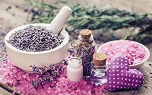 Bilder Lavendel Salz Mörser und Stößel