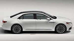 Fotos Lincoln Grauer Hintergrund Seitlich Weiß Limousine Continental, 2016 Autos