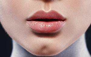 Bilder Lippe Hautnah Gesicht Schminke junge frau