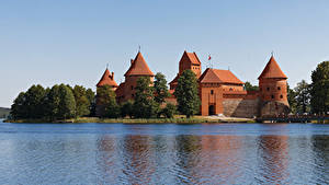 Fotos Litauen Burg See Castle Trakai