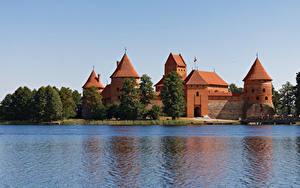 Fotos Litauen Burg See Castle Trakai Städte
