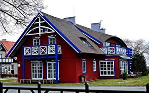 Hintergrundbilder Litauen Gebäude Design Curonian Lagoon Nida Städte