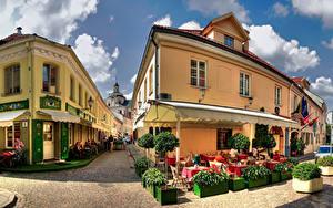 Fotos Litauen Haus Vilnius Stadtstraße