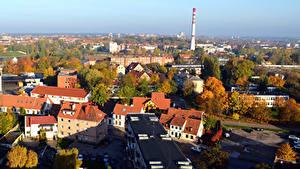 Fotos Litauen Haus Herbst Von oben