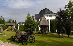 Bilder Litauen Haus Rasen Kretinga Natur