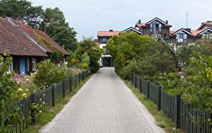 Bilder Litauen Haus Stadtstraße Zaun Nida Klaipeda