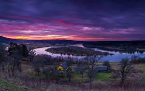 Bilder Litauen Fluss Sonnenaufgänge und Sonnenuntergänge Natur