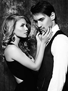 Hintergrundbilder Liebe Mann Schwarzweiss 2 Blond Mädchen Hand Ohrring Mädchens