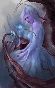 Fonds d'écran Magie Les robes Fantasy Filles