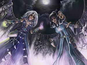 Fonds d'écran Magie Nuit Deux Les robes Fantasy