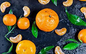 Bilder Mandarine Blatt Stück das Essen