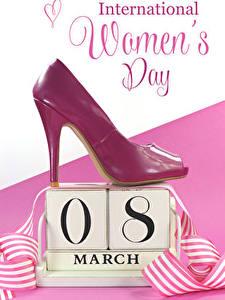 Hintergrundbilder Internationaler Frauentag Englisch Text High Heels Herz