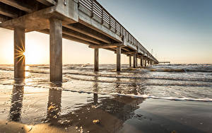 Fotos Schiffsanleger Meer Küste Vereinigte Staaten Texas Port Aransas Natur