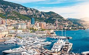 Bilder Bootssteg Jacht Monaco Monte-Carlo Küste Städte