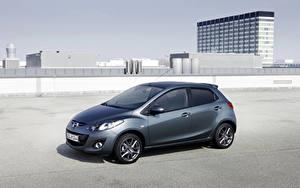 Hintergrundbilder Mazda Grau Metallisch Mazda2 Edition 40 Jahre (DE2), 2012 Autos