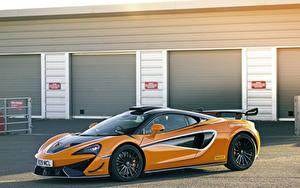 Hintergrundbilder McLaren Orange Metallisch 2020-21 620R Autos
