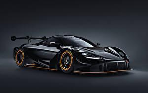 Bilder McLaren Grauer Hintergrund Schwarz Metallisch 2021 720S GT3X Autos