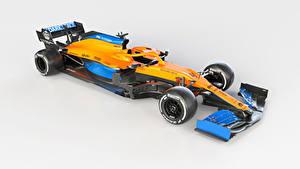 Papel de Parede Desktop McLaren Formula 1 Tuning Fundo cinza 2020 MCL35 Carros Desporto