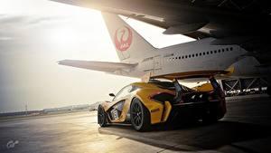 Bilder McLaren Gran Turismo Hinten GTR P1 Gran Turismo Sport Spiele Autos