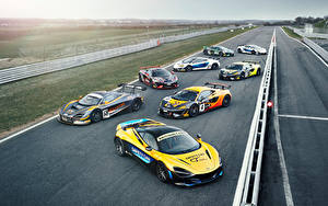 Bakgrundsbilder på skrivbordet McLaren Många Tuning Bilar