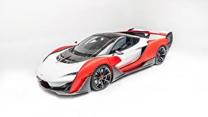 Desktop hintergrundbilder McLaren Weißer hintergrund Sabre by MSO, 2020 Autos