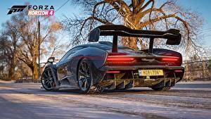 Wallpaper McLaren Forza Horizon 4 Back view Senna E3 2018 Games 3D_Graphics Cars
