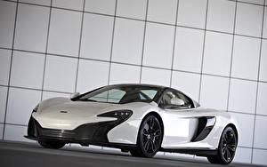 Bakgrundsbilder på skrivbordet McLaren Tuning Vit Metallisk 2015 650S Spider Al Sahara 79 by MSO bil
